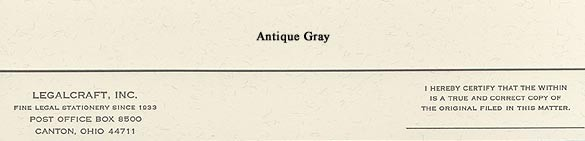 Cover Strips - Antique Gray, 50 lb. - 2 inch x 9 inch - 500ct.