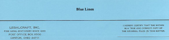 Cover Strips - Blue Linen, 50 lb. - 2 inch x 9 inch.  - 500ct.