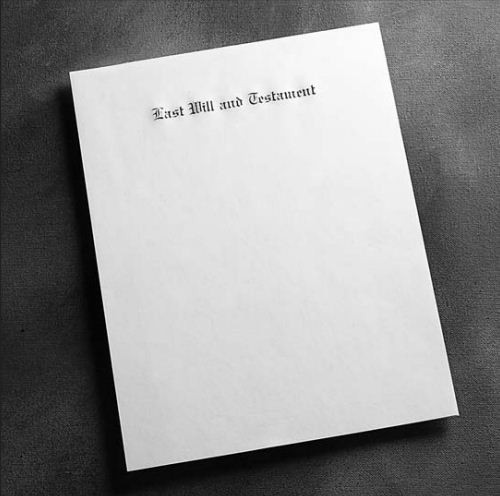 Engraved Marginal Ruled Will Papers 8½ x 14 LAST WILL AND TESTAMENT - Personalized