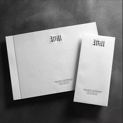 "Engraved Will Envelopes ""Will"" White Leather 5 x 9-7/8 Letter Size"