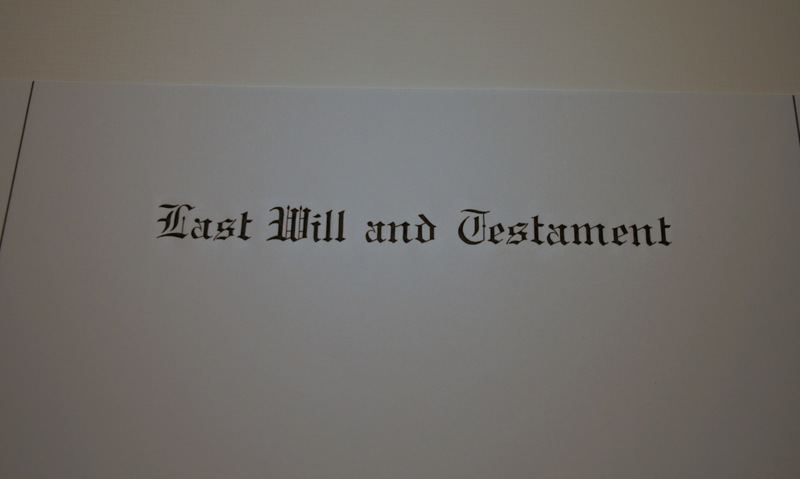 Engraved Marginal Ruled Will Papers 8½ x 14 LAST WILL AND TESTAMENT  - Non Personalized