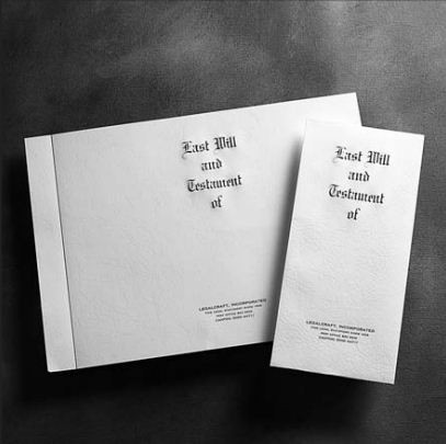 Engraved Will Envelopes Last Will & Test. of 4-3/8 x 9½ Legal Size