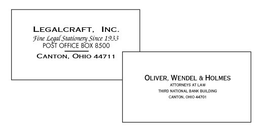 Engraved Business Cards - Legalcraft Linen, 80 lb - 250ct.