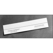Cover Strips - White Leather, 50 lb. - 2 inch x 9 inch - 500ct.